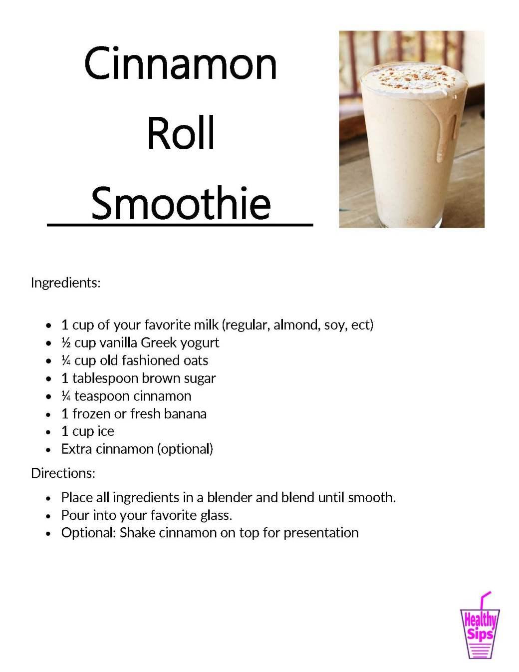 Cinnamon Roll Smoothie